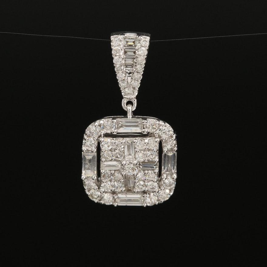 14K 1.38 CTW Diamond Pendant