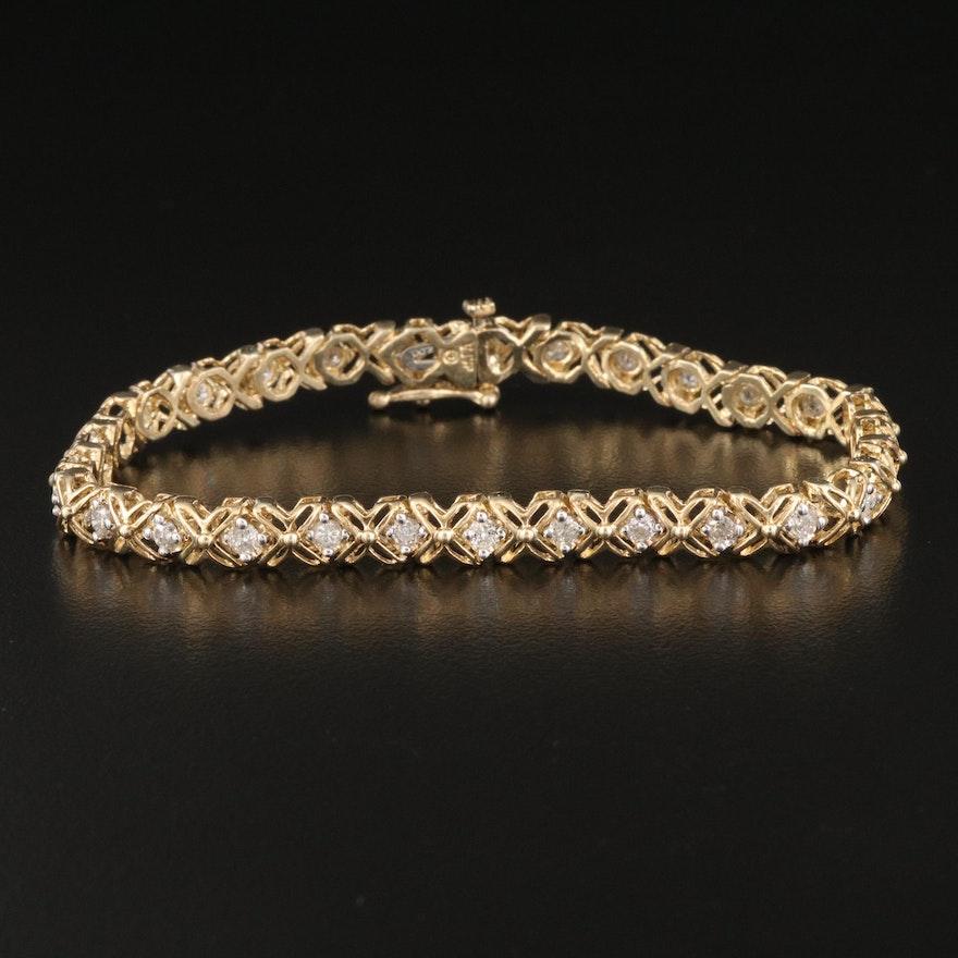10K 1.75 CTW Diamond Bracelet