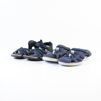 Lands' End Close-Toed and Cross Strap Water Sandals