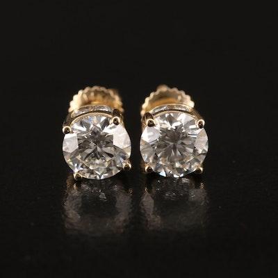 14K 1.96 CTW Diamond Stud Earrings