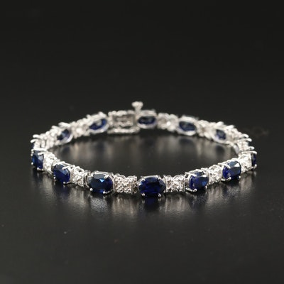 10K Sapphire and Diamond Bracelet