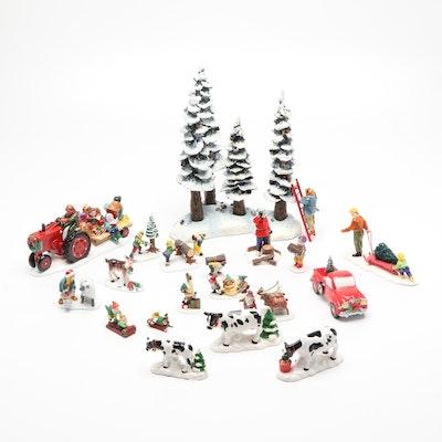 """Department 56 """"Snow Village"""" Porcelain Figurines"""