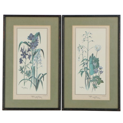 Offset Lithographs After Ray Harm of Botanical Illustrations, Late 20th Century