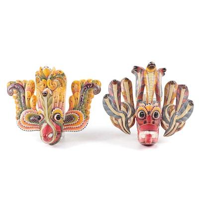 Balinese Polychrome Wood Decorative Masks, Indonesia
