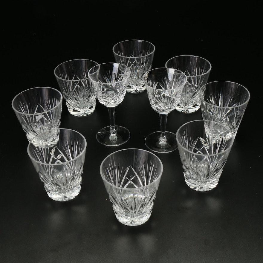 10-Pc. Cut Glass Tumblers and Aperitif Glasses