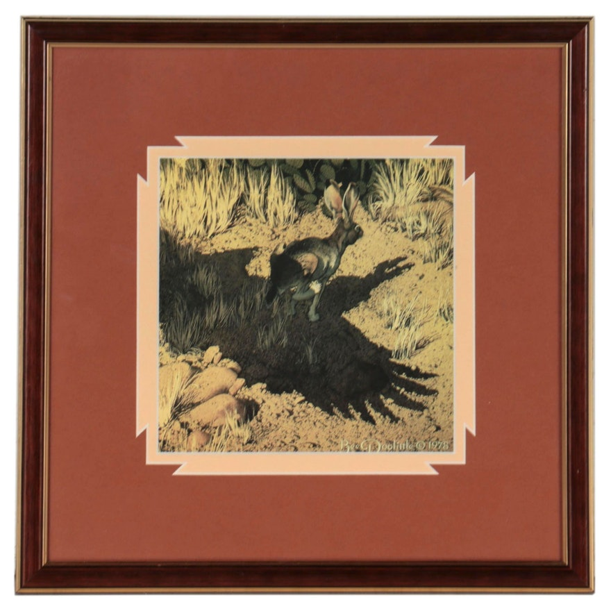 """Offset Lithograph After Bev Doolittle """"Escape by a Hare,"""" Circa 1978"""