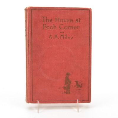 """Illustrated """"The House at Pooh Corner"""" by A. A. Milne, 1928"""