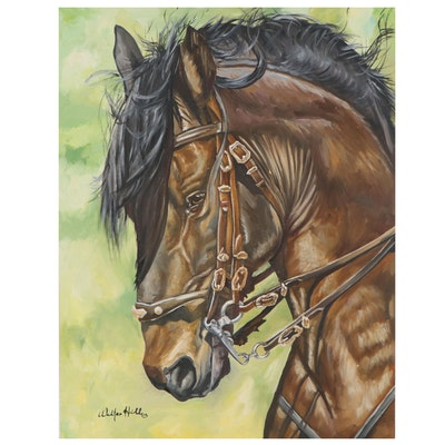 Walter Hill Oil Painting of a Horse
