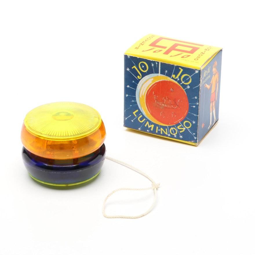 Luminoso Jo Jo  Souvenir Yo-Yo in Original Packaging, circa 1960