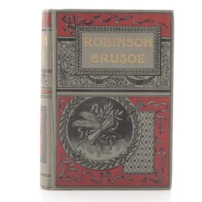"Illustrated ""Robinson Crusoe"" by Daniel Defoe, Late 19th Century"