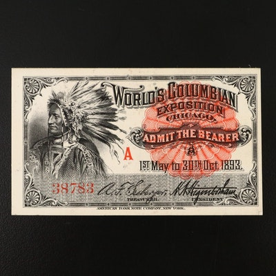 Columbian Exposition Admission Ticket, 1893