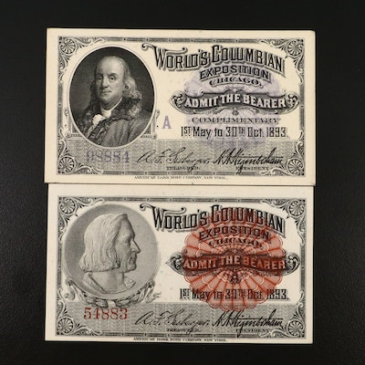 Columbian Exposition Admission Tickets, 1893
