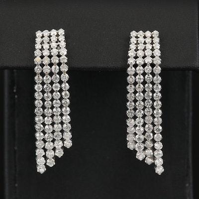 14K 4.95 CTW Diamond Waterfall Earrings