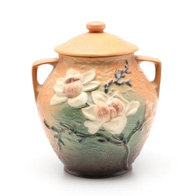 "Roseville Pottery ""Magnolia Terra Cotta"" Cookie Jar, Mid-20th Century"