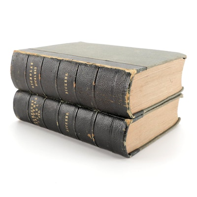 """""""Nicholas Nickleby"""" Copyright Edition and More by Charles Dickens, 1843"""