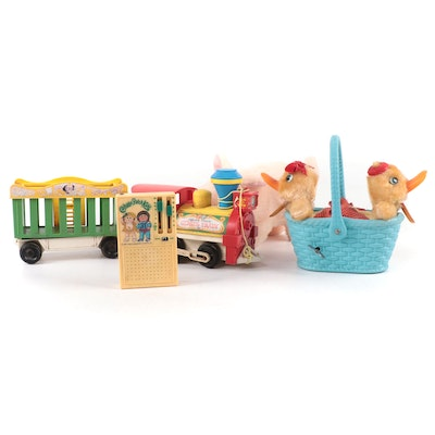 Fisher-Price Circus Train, Playtime Cabbage Patch Kids Radio, and Wind-Up Toys