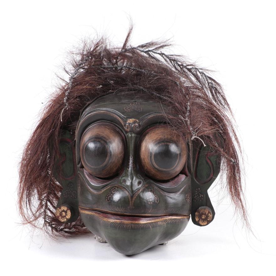 Balinese Wood and Fiber Monkey Mask, Indonesia