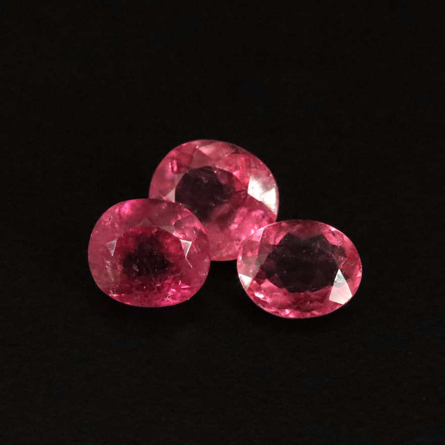 Loose 7.28 CTW Oval Faceted Tourmalines