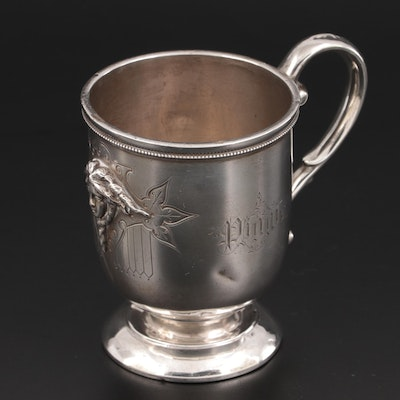 English Sterling Silver Cup, Late 19th to Early 20th Century