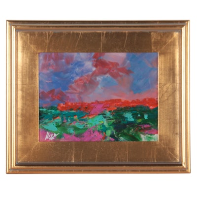 "Claire McElveen Acrylic Painting ""Summer Horizon,"" 2021"