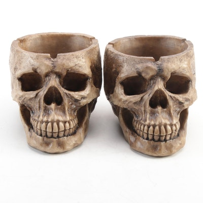 Resin Skull Replica Ashtrays