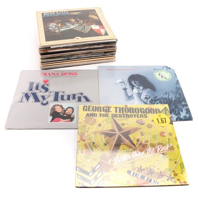 Diana Ross, George Thorogood, Patti Smith, Other Vinyl Rock LP Records