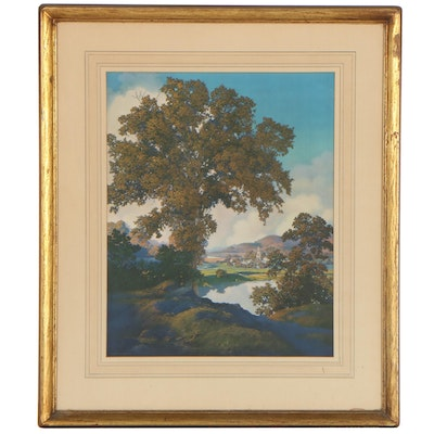 """Offset Lithograph After Maxfield Parrish """"Tranquility,"""" Late 20th Century"""