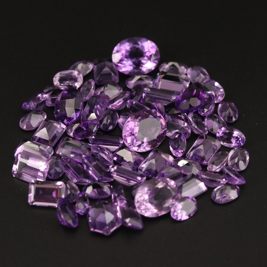 Loose 46.12 CTW Mixed Faceted Amethyst