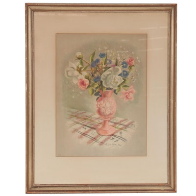 """Offset Lithograph After Lucile Blanch """"Spring Flowers,"""" mid-Late 20th Century"""