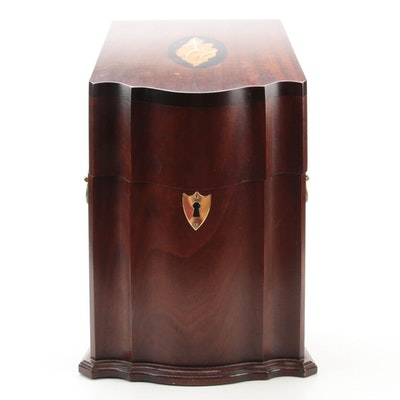 George III Style Mahogany and Marquetry Knife Box