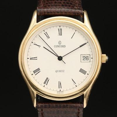 Concord Mariner 14K Yellow Gold Quartz Wristwatch