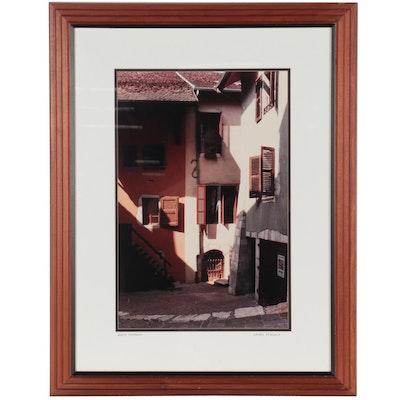 "Laurel Spingola Chromogenic Photograph ""Anecy Shadows,"" Late 20th Century"