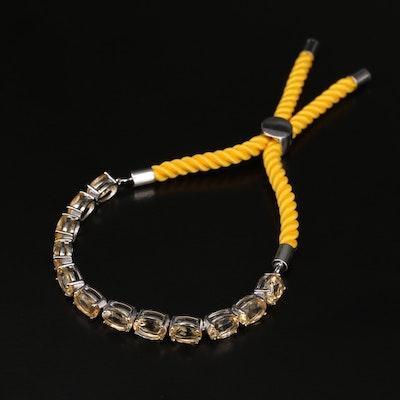 Sterling Citrine Bolo Bracelet