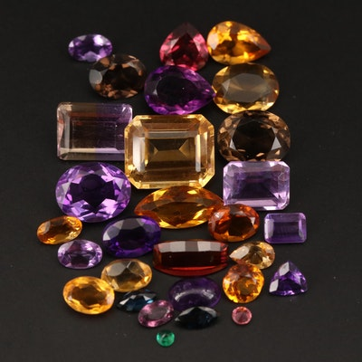 Loose 36.22 CTW Ametrine, Amethyst, Citrine and Additional Gemstones