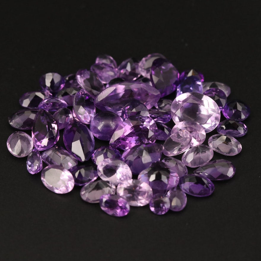 Loose 44.55 CTW Mixed Faceted Amethyst
