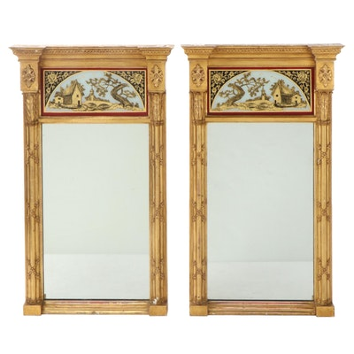 Pair of Federal Giltwood Mirrors, Early 19th Century