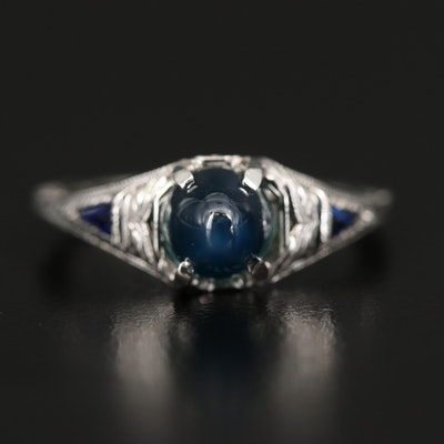 Vintage 18K Sapphire Ring