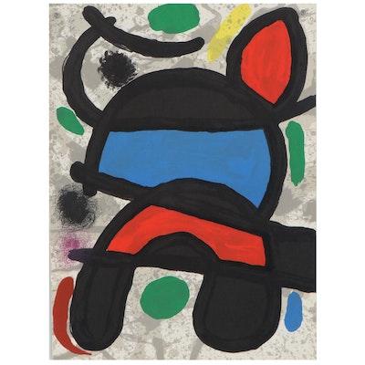 """Color Lithograph after Joan Miró from """"Derrière le Miroir,"""" 1970"""
