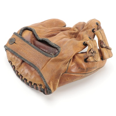 Goldsmith Athletic Goods Harland Cliff Endorsed Leather Baseball Glove, 1930s