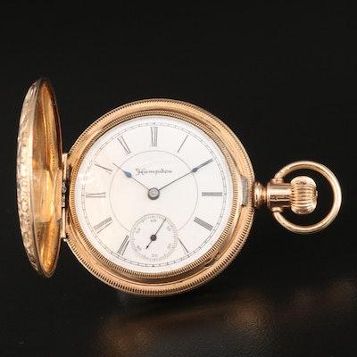 1891 Hampden Hunting Case Pocket Watch