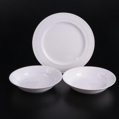 "Bernardaud Limoges ""Louvre"" Porcelain Bowls and Plate"