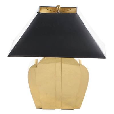 Chapman Art Deco Style Brass Table Lamp, Late 20th Century