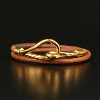 Hermès Jumbo Double Tour Leather Bracelet