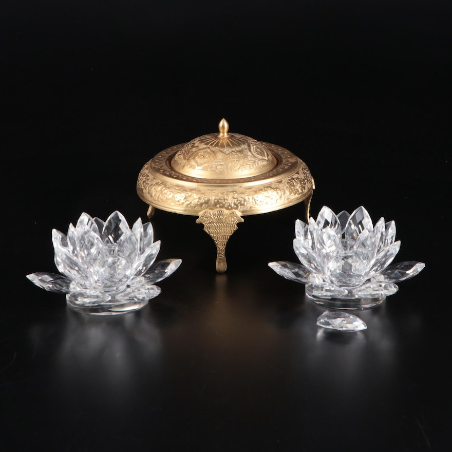 Shannon Crystal Lotus Form Votive and Other