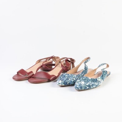 Lands' End Lucy Slingback and Amalia Ankle Strap Sandals