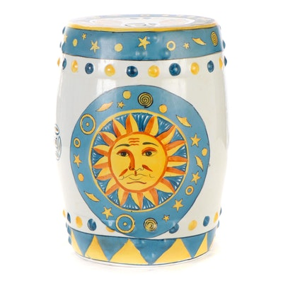 Chinese Celestial Themed Ceramic Garden Stool