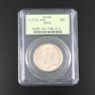 PCGS Graded MS64 1936 Cleveland Centennial Commemorative Silver Half Dollar