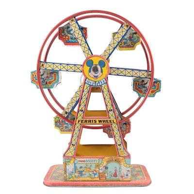 "J. Chein & Co. ""Disneyland Ferris Wheel"" Tin Lithograph Windup Toy, 1950s"