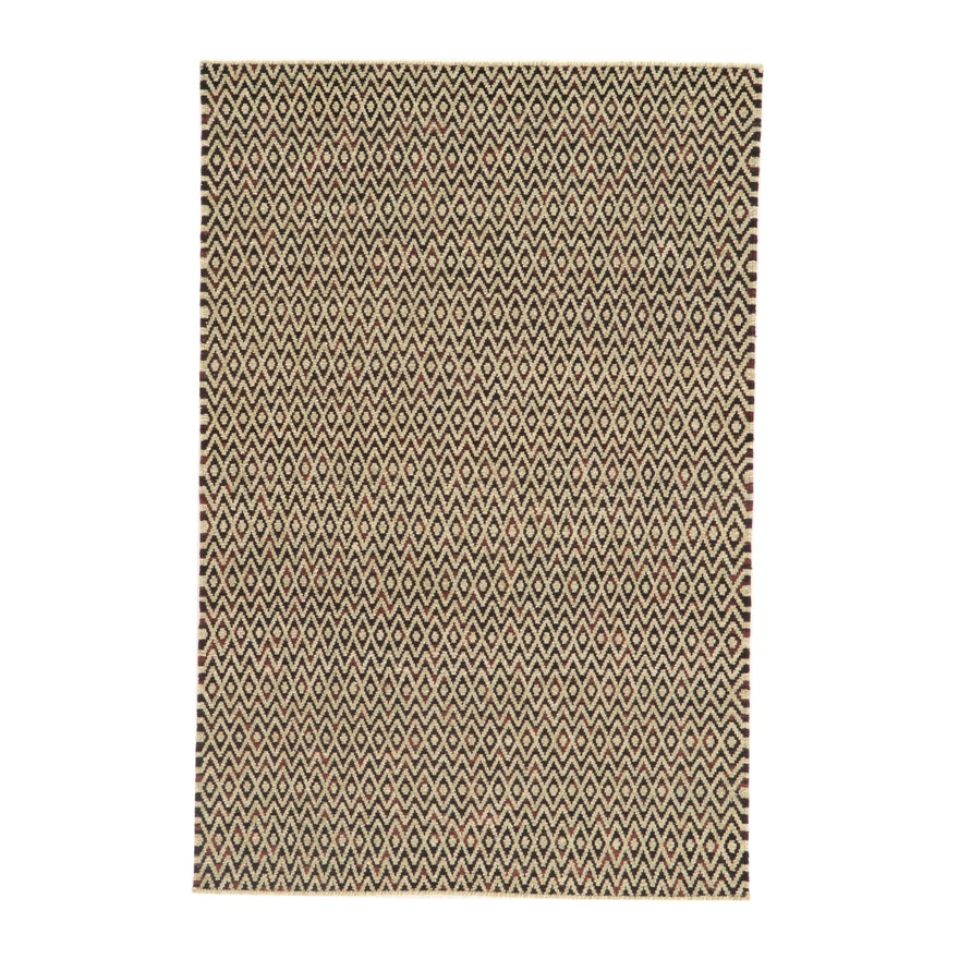 4' x 6' Handwoven Indo-Moroccan Rug, 2010s