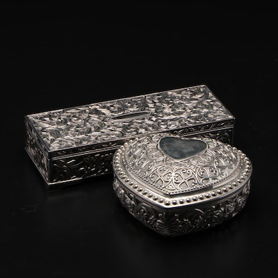 Godinger Silver Plate Vanity Jewelry Boxes, Contemporary